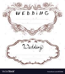 Wedding Title Wedding Title Floral Frame For Wedding Invitation