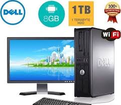 full dell hp dual core amd desktop tower pc tft computer windows 10 8gb
