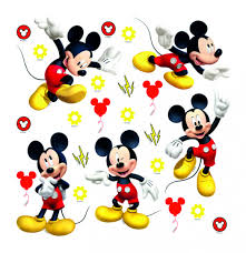 disney wall sticker mickey mouse red