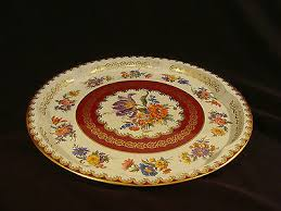 Daher Decorated Ware Tray Made In England Daher Decorated Ware floral Pattern Tin Tray 60 6060 Inches 2