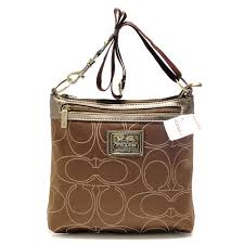 Coach Swingpack In Signature Medium Khaki Crossbody Bags AWX
