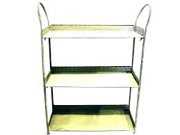 black metal frame glass shelves union rustic wall shelf home depot standards white kitchen countertops ideas