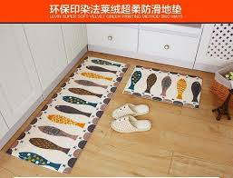 new thick kitchen floor mats non slip absorbent door mat long c velvet carpet kitchen rugs