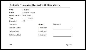 Training Report Cover Page Training Report Template