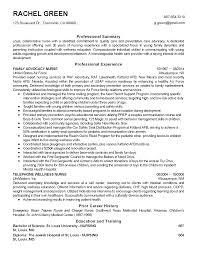 resume templates family advocacy nurse child development resume