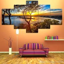 nature canvas wall art horizon nature canvas prints 5 pieces
