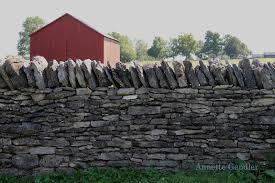 annette gendler  photo essay  stone fences in kentuckyshaker village stone fence   barn   annette gendler jpg