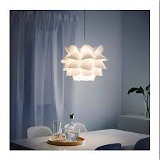 Diy Lotus Chandelier Pp Pendant Lampshade Ceiling Room Decoration Puzzle Lights Modern Lamp Shade White