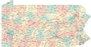 pennsylvania road map  pa road map  pennsylvania highway map
