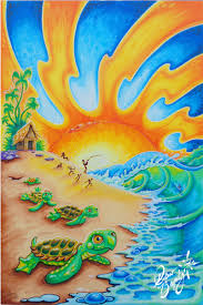 2016 turtle beach by drew brophy 36 x 24 on canvas commissioned by a family