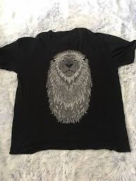 Supremebeing Respect The Beard Lion Graphic T Shirt Grey Tie