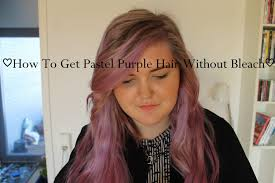 How To Get Pastel Purple Hair