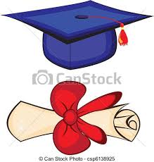diploma and graduation cap illustration on white background  diploma and graduation cap vector