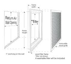 Filter Grill Sizing Chart Return Air Grille Sizes Aboutbrands Co