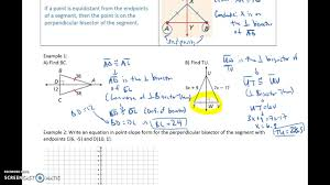 6 1 bisectors of triangles