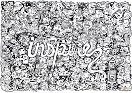 Small Picture Inspire Doodle Coloring Page In Coloring Pages Printable glumme