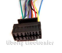 new 16 pin auto stereo wire harness plug for sony mex bt3700u mex image is loading new 16 pin auto stereo wire harness plug