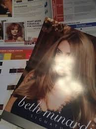 Details About Beth Minardi Haircolor Hair Color Signature Charts Paper