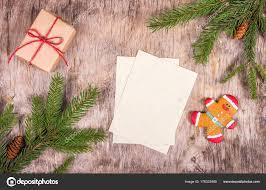 Blank Christmas Background Blank Sheet Christmas Background List Gifts Preparing Christmas Copy
