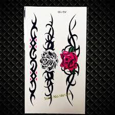 сексуальные водонепроницаемые татуировки на палец красные губы покер лук