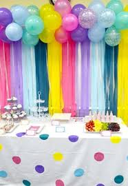 Balloon wall decor party favors ideas. View Images ...