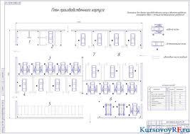 Курсовой проект станции технического обслуживания Чертеж генерального плана станции технического обслуживания Чертеж плана производственного корпуса