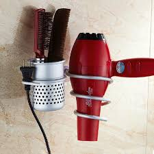 wall mounted aluminum hair dryer holder