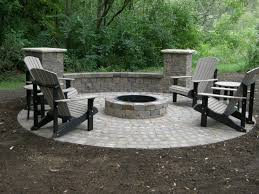 brilliant ideas of stained concrete patio with a stone wrapped fire from 11 pit source secelectro com the fireplace designs for