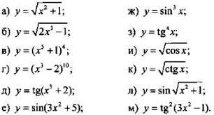 Вычисление производных Производная е полугодие Алгебра и  image682