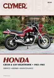 honda motorcycle manuals diy repair manuals clymer honda cb550 650 nighthawk motorcycle 1983 1985 service repair manual