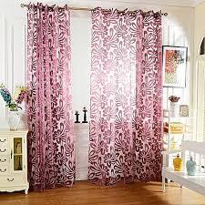100 x 250cm european flower printed tulle window curtains home