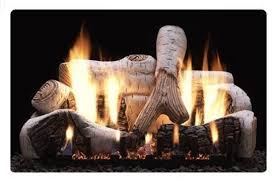 empire birch gas fireplace logs vent free slope glaze burner