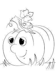 Il Disegno Da Colorare Di Una Zucca Di Halloween Con La Faccia Dolce