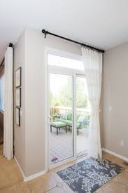 sliding glass door curtain it s a shade and curtain all in one installs on