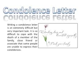 Condolence Template Magnificent Condolence Letter