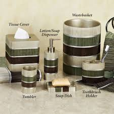 brown and green bathroom accessories.  Bathroom Sage Green And Brown Bathroom Modern Line Sage Lotion Soap Dispensers For Accessories E