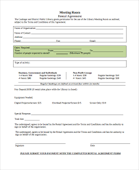 Rental Agreement Custom 44 Sample Room Rental Agreements Sample Templates