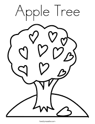 Small Picture Apple Tree Coloring Page Twisty Noodle