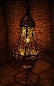 Moroccan Lights Name Handmade Hanging Moroccan Lantern In Metal Golden Color