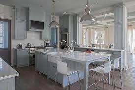 gray kitchen island with white ikea bar stools