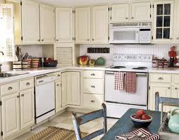 Small Picture Delighful Painted White Kitchen Cabinets With Appliances Paint