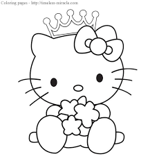 Yet 2010s girls adore hello kitty ! Princess Hello Kitty Coloring Pages Photo 6 Timeless Miracle Com