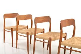 set of 4 dining chairs. Dining Chairs By Niels O. Møller, Set Of 4 E