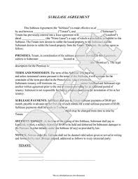 for lease sign template subletting lease agreement template sublease agreement form sublet