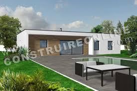 plan de maison contemporaine modele linea vue 3d