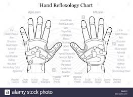 Hand Body Chart Hand Reflexology Chart With Accurate Description Of The