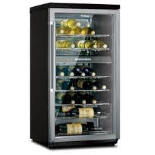 haier wine refrigerator. Beautiful Refrigerator Haier HVZ040ABH 40 Bottle Dual Zone Wine Cellar Inside Refrigerator T
