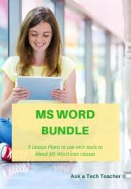 Ms Word Lesson Plans Microsoft Word Lesson Plans Structured Learning