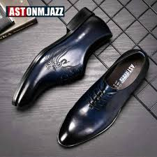 men s leather casual shoe business men genuine leather shoes men lace up classic oxford shoes for men black formal shoe big size malaysia