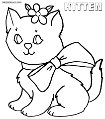 Small Picture Kitten coloring pages Coloring pages to download and print